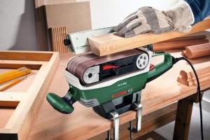 Holz schleifen mitBosch Bandschleifer PBS 75 AE
